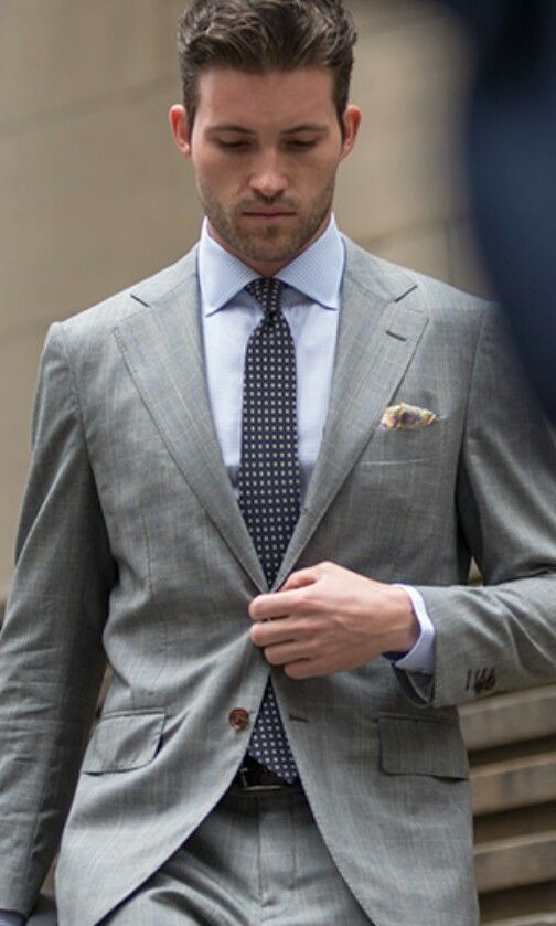 Gray Men's suit☆ More suits, style and fashion for men @ http://www.zeusfactor.com men's fashion, fashion for men
