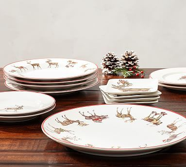 Silly Stag Dinner Plate, Set of 4 #potterybarn