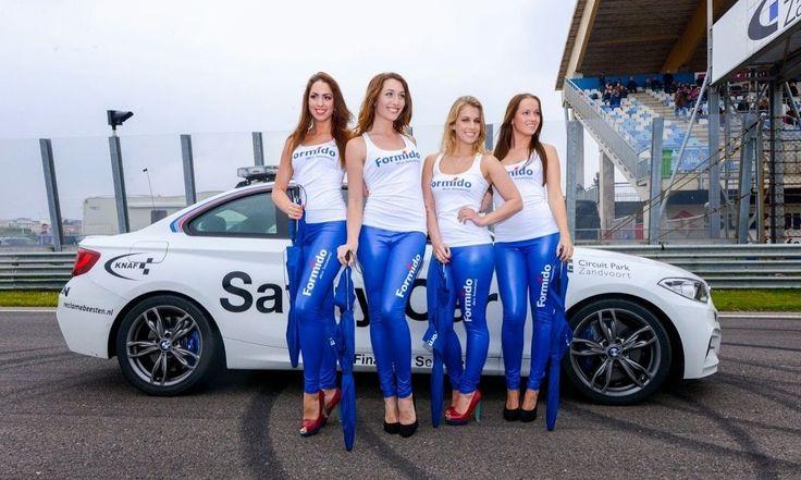 VIPPromo tijdens paasraces Circuit Zandvoort 2014 #Vip-Promo #Gridgirls #Promotie dames #spandex outfits #VIPPromo promoties