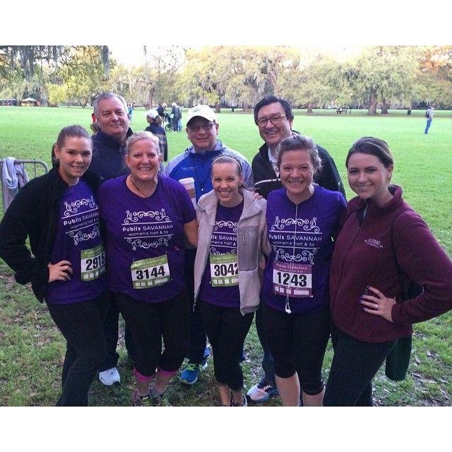 Visit Savannah's Sales Team ran the Publix Savannah Women's Half Marathon/5K!