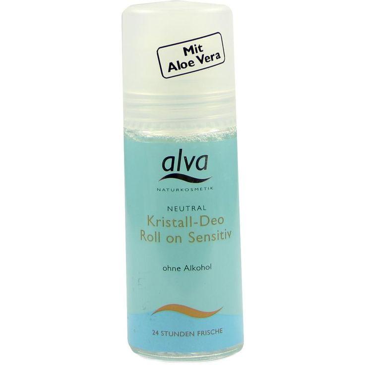 ALVA Kristall Deo Roll-on Sensitiv:   Packungsinhalt: 50 ml Stifte PZN: 04748652 Hersteller: alva naturkosmetik gmbh Preis: 4,29 EUR…