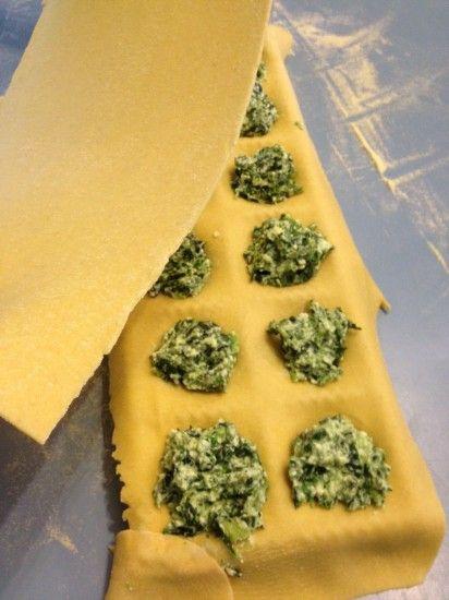 Homemade spinach ricotta ravioli (and a recipe for butternut squash, sage ravioli)