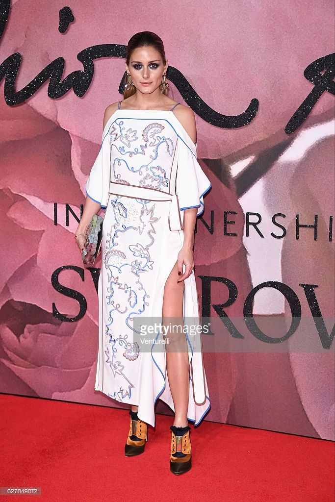 Olivia Palermo walks the red carpet for the British Fashion Awards 2016 on December 5, 2016 in London, England.