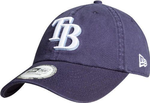 MLB Tampa Bay Rays Cotton Adjustable Cap by New Era. Save 5 Off!. $20.02. Team name in flat embroidery on back of cap. Primary Team logo in raised embroidery on the front of the cap. GW 920 adjustable cotton twill cap. One size fits most. The GW 920 an adjustable cotton twill cap from New Era.  Made in the team's primary home color.  Designed with the team's primary logo in raised embroidery on the front, the team name in flat embroidery on the back and the New Era flag on th...