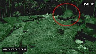 Ghost Coming Out From The Gravestone | Real Paranormal Activity Caught on CCTV Camera From Cemetery