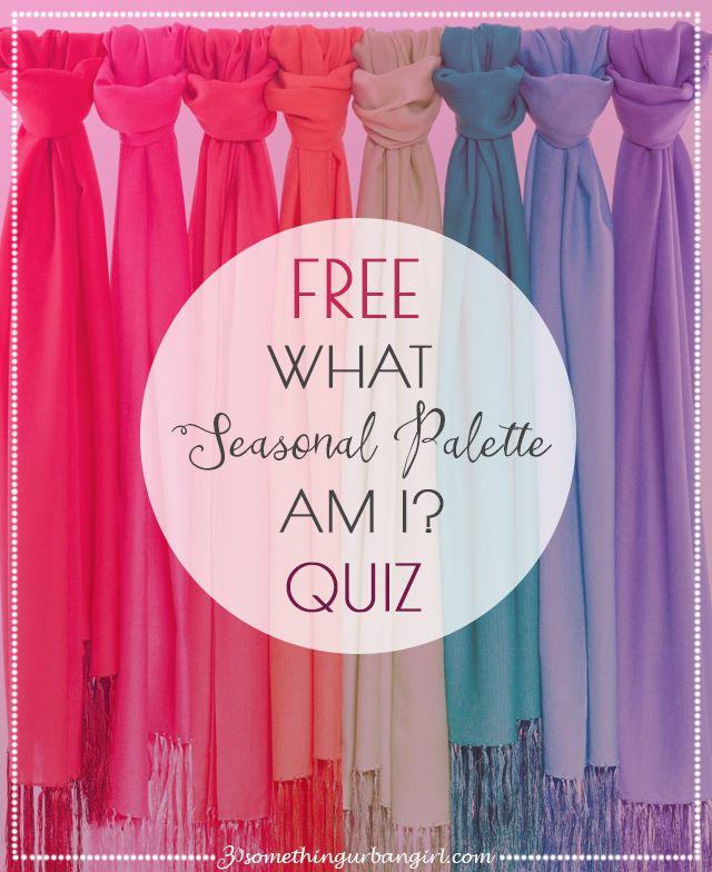 FREE Color Analysis Quiz by 30somethingurbangirl.com: What Seasonal Palette Am I?