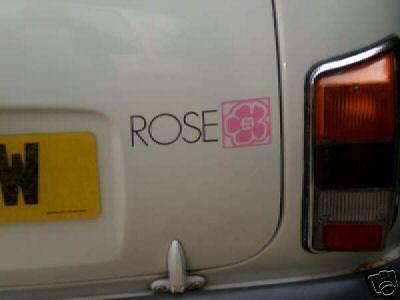 Mini ROSE graphics 3 off classic MINI + pin stripes FREE P+P UK UK supplier
