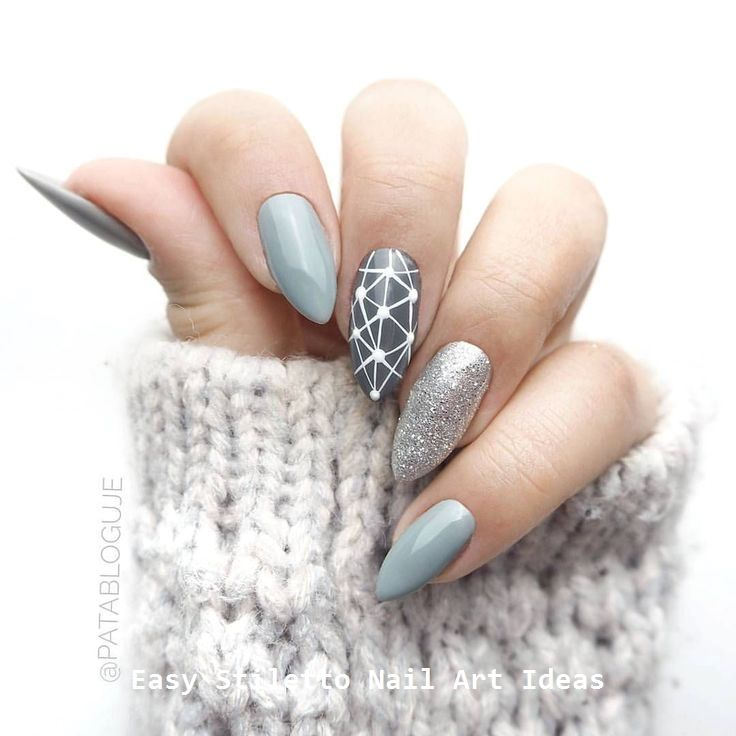30 Great Stiletto Nail Art Design Ideas #stilettonails