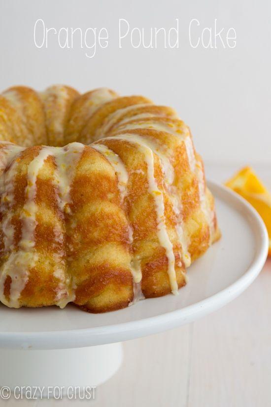 Orange Pound Cake   crazyforcrust.com   A pound cake made with greek yogurt and oranges for a zesty citrus flavor!