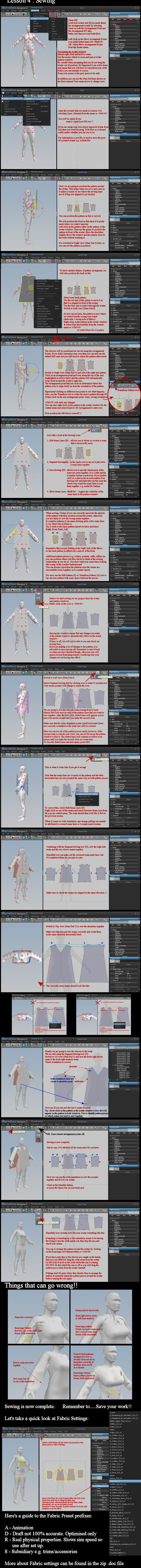MD2 and DAZ Studio: Arranging and Sewing Pattern by *dylazuna on deviantART