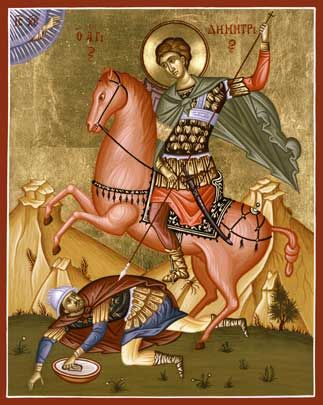 St. Demetrius Aiden's saint & name day Oct 26
