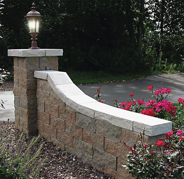 run the tail parallel with driveway and then just a little whip at the very end to give contour. Retaining wall blocks