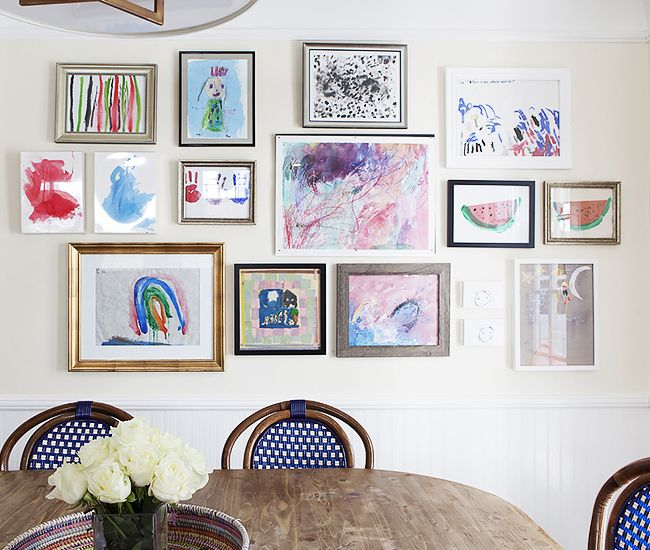 If you're hanging your children's artwork gallery style, have fun with different frames!