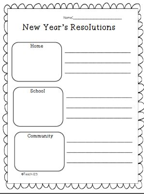 FREE New Year's Resolutions printables