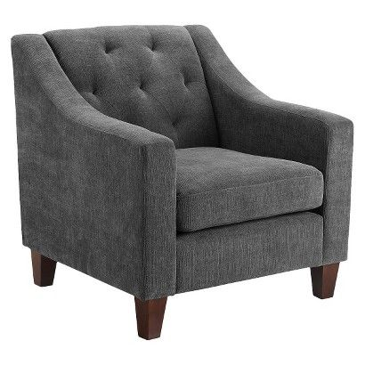 Tufted Upholstered Arm Chair: