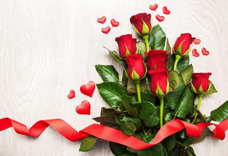 Скачать обои Heart, 8 марта, розы, Roses, сердце, красные, Red, праздник, лента, раздел цветы в разрешении 4030x2764
