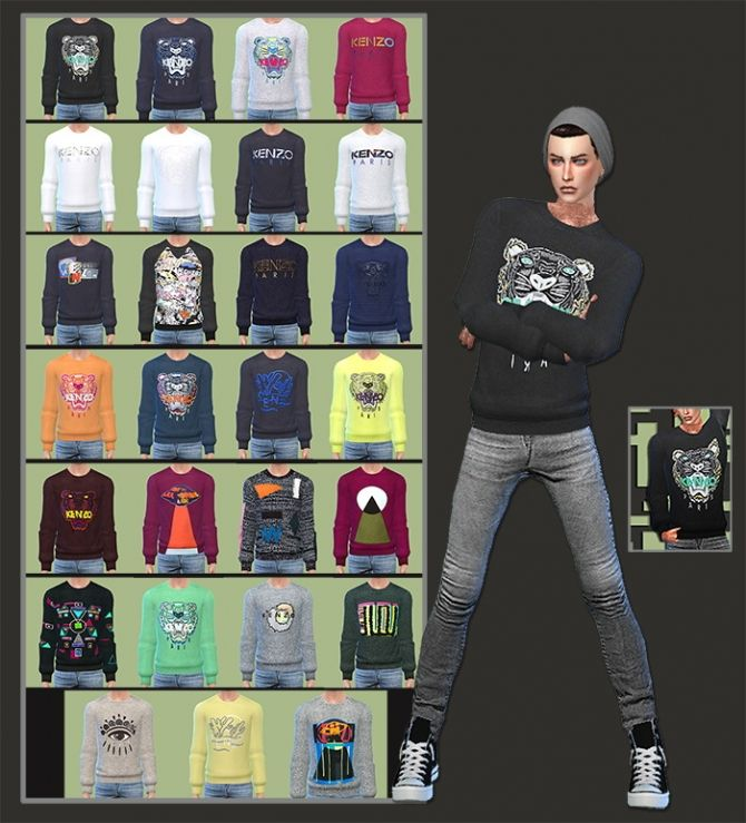 Sweaters For Males at Gisheld via Sims 4 Updates