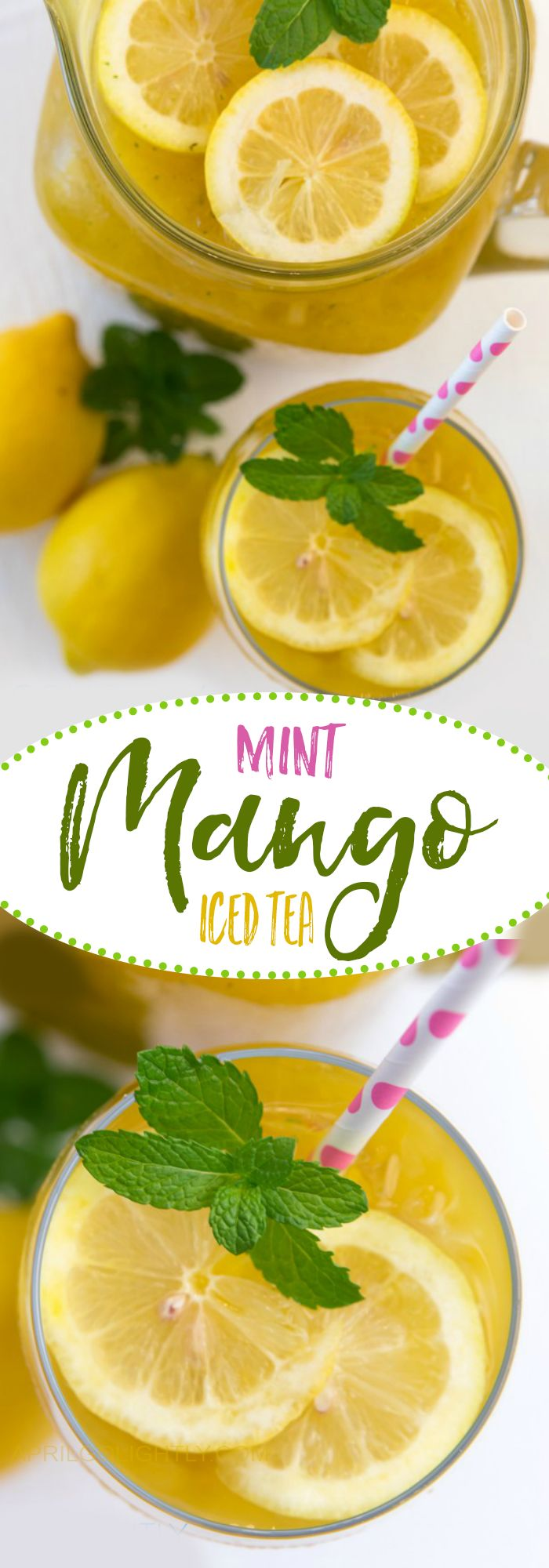 Mango Mint Iced Tea Recipe with Cold Brew Family Size Tea Bags, fresh mango and mint #CollectiveBias #shop #TEArifficPairs
