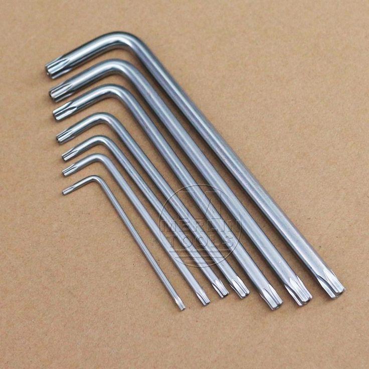 Select T6 T8 T10 T20 T25 - T50 Security Anti Theft Torx Screw Star L Key Wrench