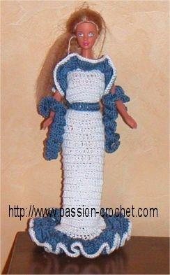 Barbie crochet pattern (use translate)