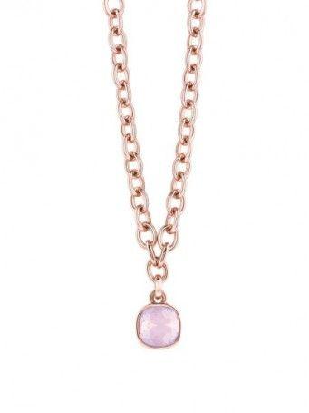 Halskette Crystal Shades rosévergoldet
