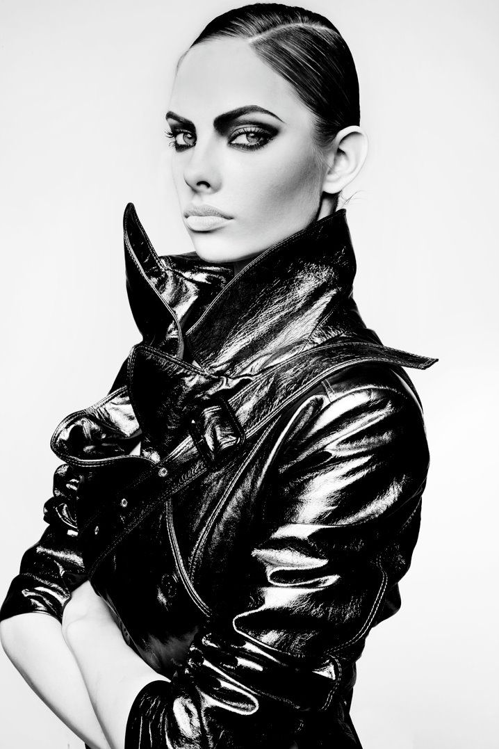 Dioni tabbers black and white photography makeup editorial