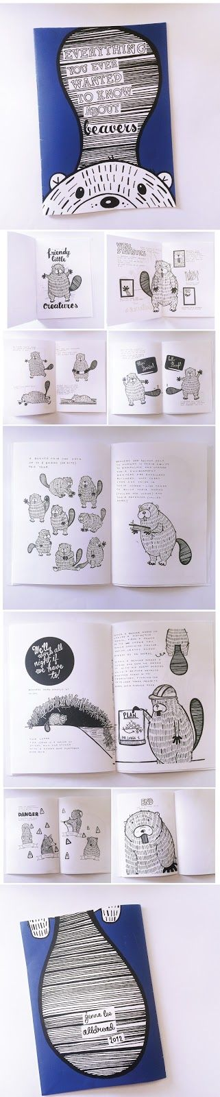 Everything You Ever Wanted to Know about Beavers - illustrated zine by Jenna Lee Alldread