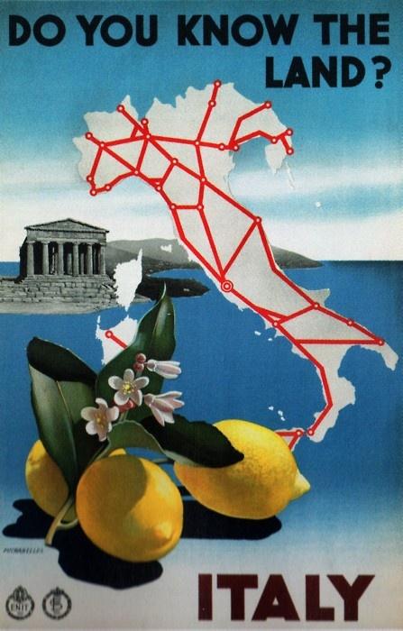 Italy railway ad, 1930s