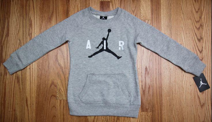 Air Jordan Girl Non-Hooded Sweatshirt ~ Heather Gray, Black & Silver ~ Jumpman ~ #Jordan #Jumpman