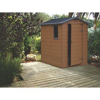 keter oakland 7 6 x 9 resin paintable shed at menards - Garden Sheds Menards