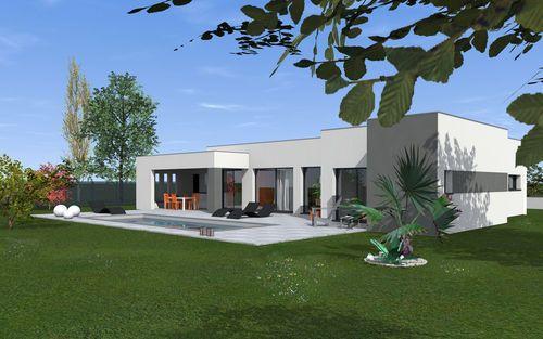 Découvrez les plans de cette une contemporaine conviviale sur www.construiresamaison.com >>>