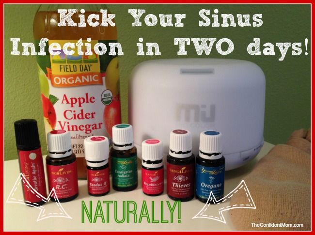 Learn how I beat a sinus infection in TWO days using natural remedies, including Young Living essential Oils - relief!!