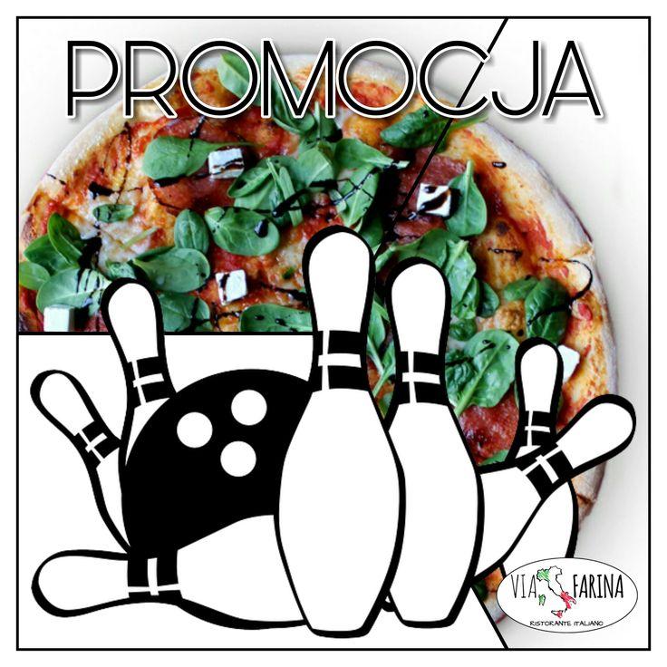 ☛ PROMOCJA ☚  SPECJALNIE DLA WAS ☛ TYLKO W PIĄTEK I SOBOTĘ, GODZINA KRĘGLI + PIZZA ROMA 50 CM = 59 ZŁ ☚  SERDECZNIE ZAPRASZAMY ☛ http://www.viafarina.pl/ ☚ :)  #restauracja #restauracjawłoska #Niepołomice #Kraków #Wieliczka #Pizza #Italia #menu #Obiad #lunch #kręgle #pysznejedzenie #zaproszenie #spaghetti #cena #ofertaspecjalna #rabat #zabawa #przyjaciel #rodzina