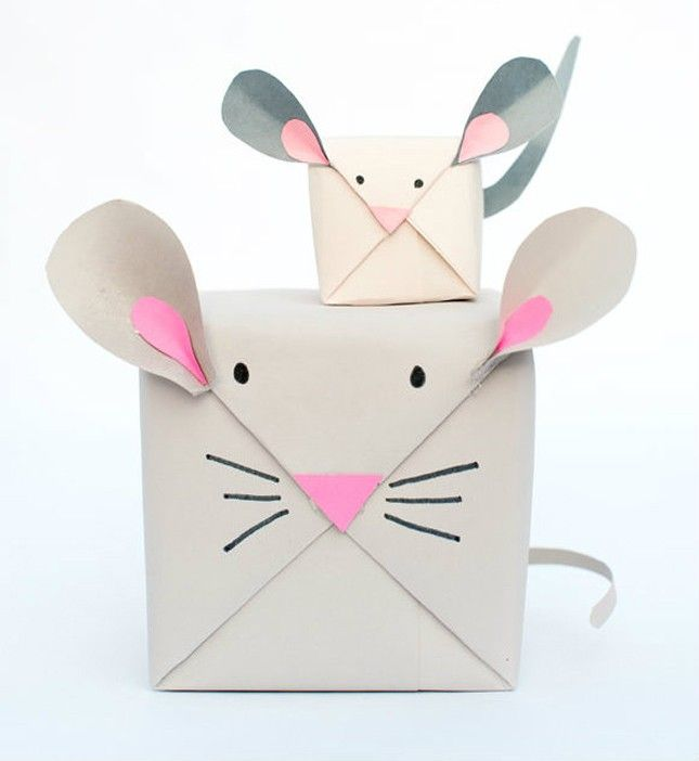 Save this DIY tutorial to make mouse gift wrap for your kid's presents.