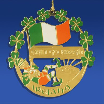 Ireland Christmas Ornaments | Irish Erin Go Bragh Christmas Ornament