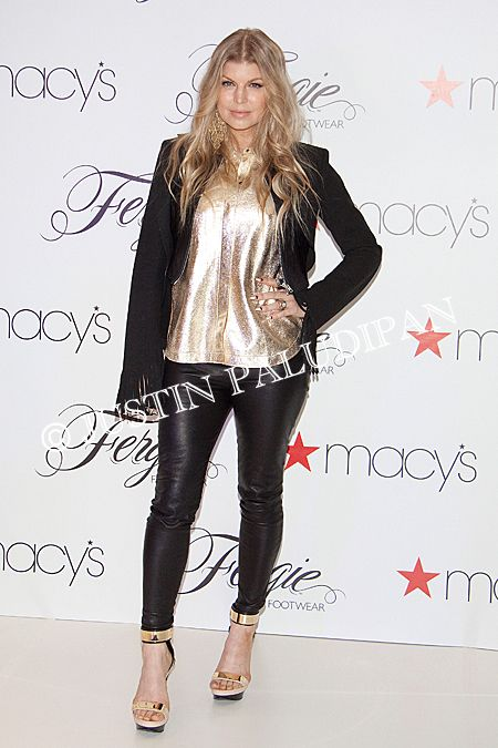 Fergie hosts a meet and greet to celebrate her footwear line 'Fergie Footwear' at Macy's inside the Fashion Show Mall on February 19, 2014 in Las Vegas, Nevada.