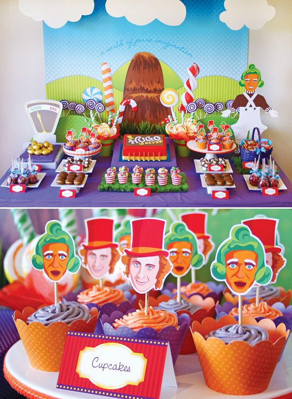 Willy Wonka Birthday Party   candy-wonka-birthday-party-sweets-table