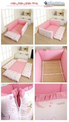 baby bed on the floor, Korean style