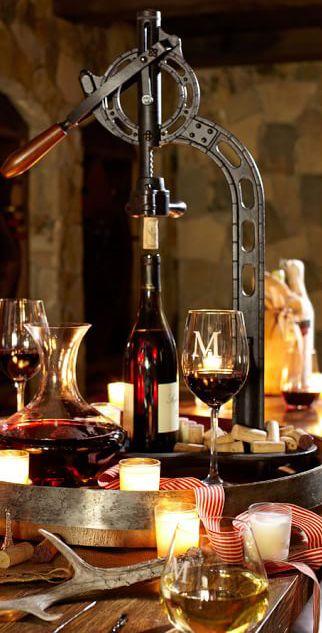 Vinters Standing Wine Opener | Home Bar Accessories | Entertaining | www.earthgear.com