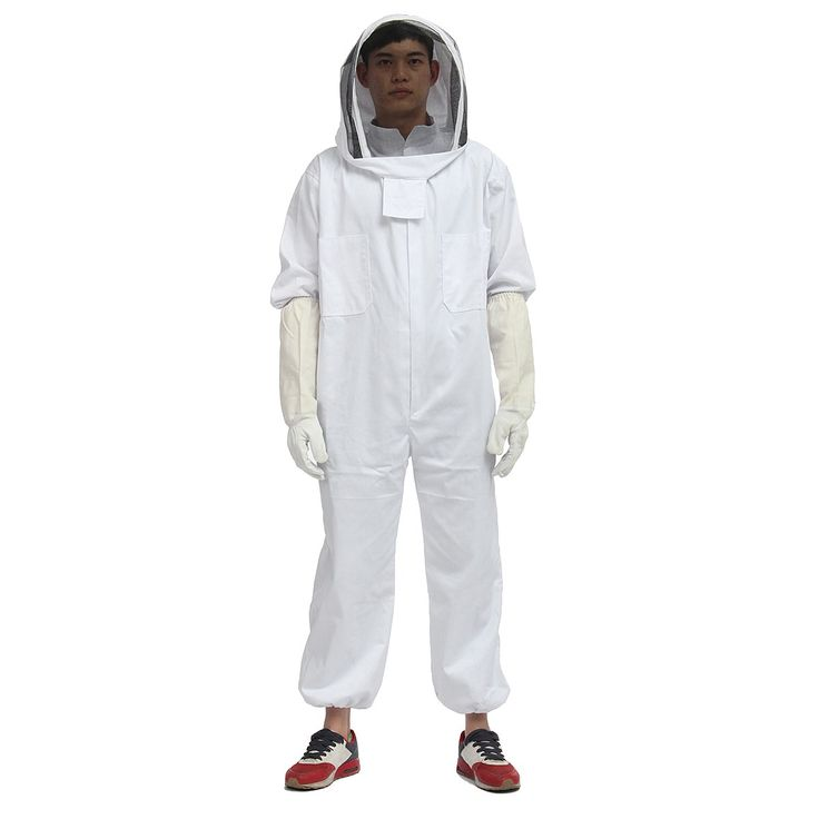 NEW Beekeeper Beekeeping Protective Veil Suit Smock Bee Hat Gloves Full Body Set New Safety Clothing