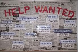 """""""Help Wanted"""" bulletin board (During PTC or Back to School Night?)"""