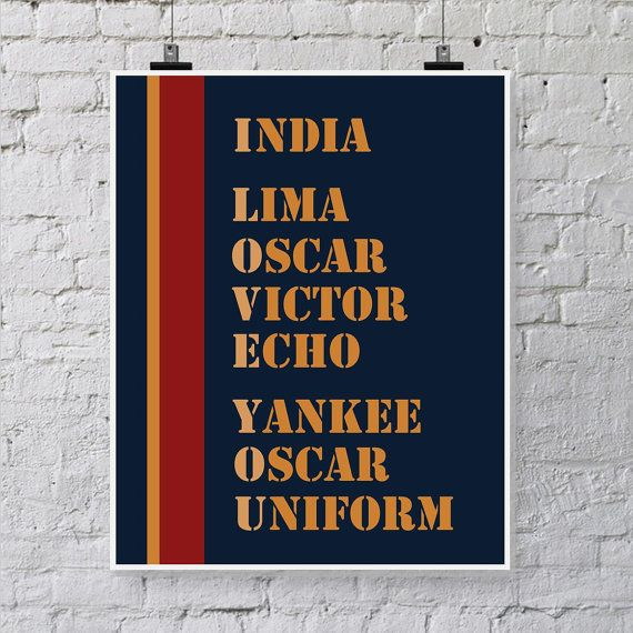 Military Love Quote Printable - Marines Decoration - Military Alphabet Printable Art. Colors of the US Marines, $6.00 instant download printable on Etsy.