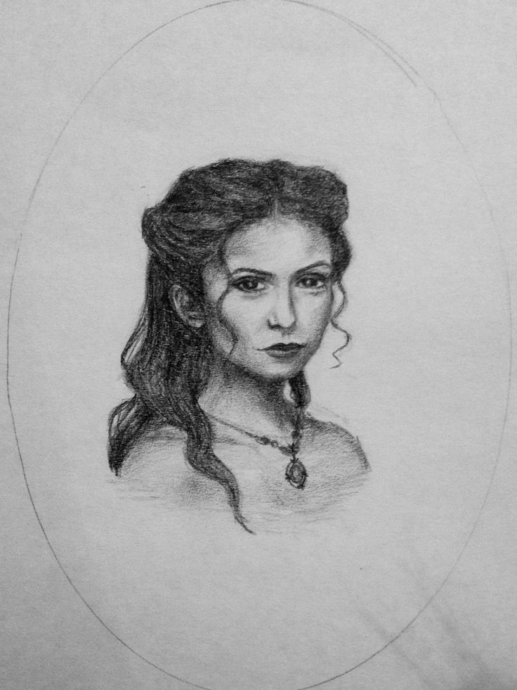 Drawing of Katherine Pierce from the vampire diaries tvd (1864)