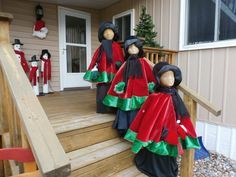 Tomato cages, foam head, black witch's dress, hats, scarfs and tree skirt.