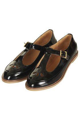 MARTIE Patent T Bar Geek Shoes