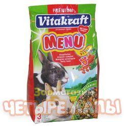Корм для кроликов Витакрафт Меню Витал основной, пак. 3 кг