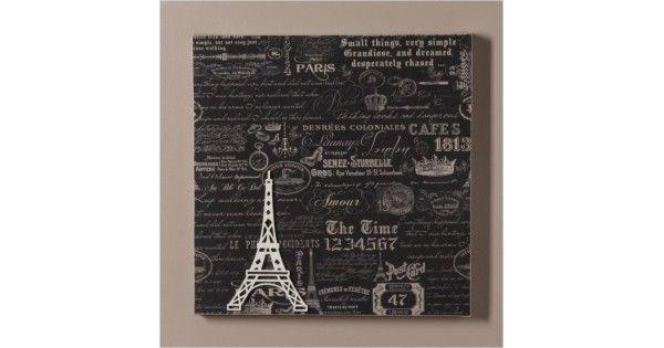 Elegante e requintado, o quadro sobreposto Paris Typography retrata de forma artística, os detalhes de Paris. Fundo grafite especial para salas ou escritórios.Composição: Quadro em tela sobreposta, aplicado uma estampa em papel, e feito detalhes em apliques diversos para dar o acabamento final.Espe