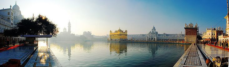 The Harmandir Sahib (also known as the Golden Temple) is the gurdwara of worship of Sikhs.