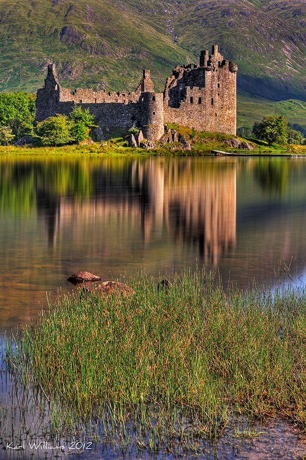 Kilchurn Castle, Loch Awe, Scotland. This is the castle we will be seeing when we are at the Cabin for Christmas!!!