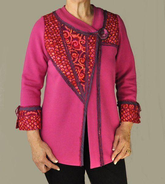 Fuchsia Wedge Jacket from Living Well Talking Pattern™
